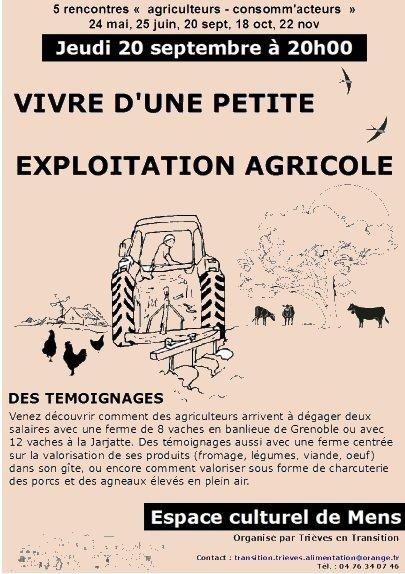 Vivre d'une petite exploitation agricole dans Trieves en transition vivre