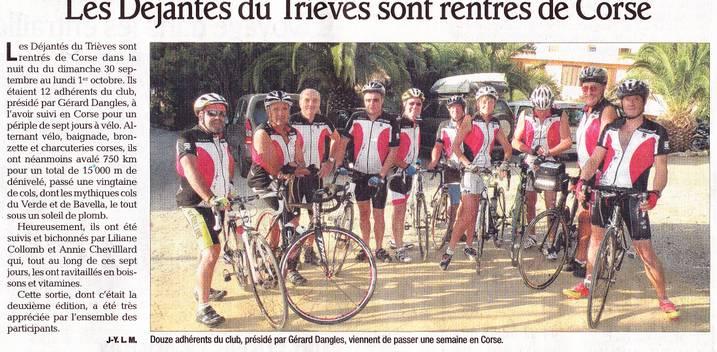 Les déjantés font la Corse dans Trièves à vélo dejantes