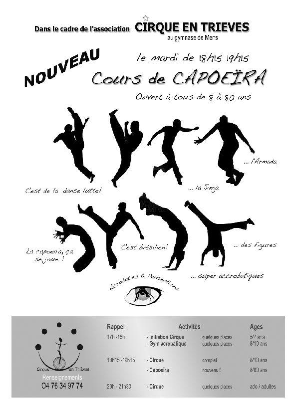Capoeira ! dans Trièves capoira