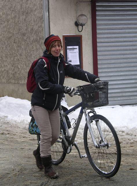 Le vélo sous la neige... dans Belgique nouille