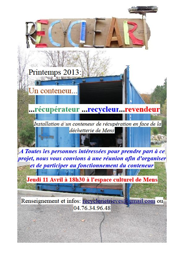 Ressourcerie dans Ecologie container