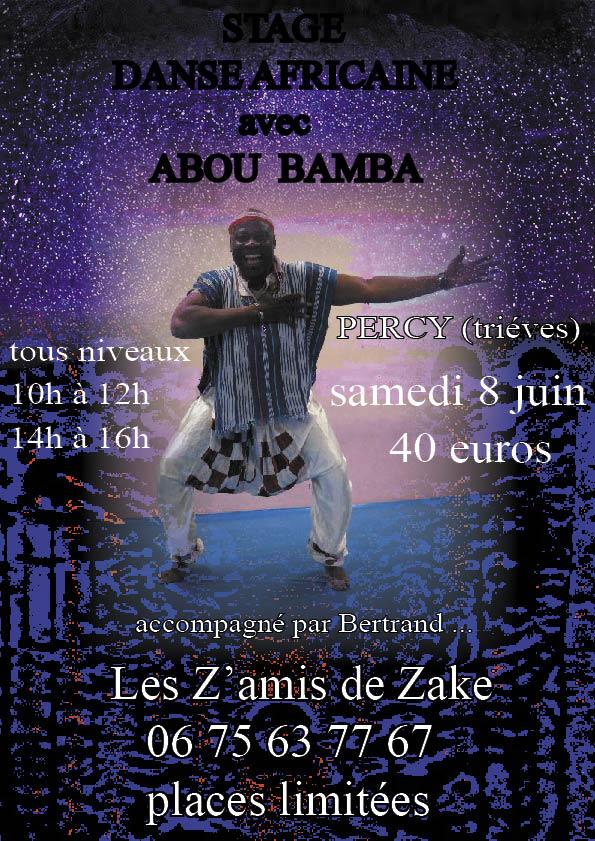 Stage de danse Africaine et after dans Trièves culture & cinéma plaquette-abou