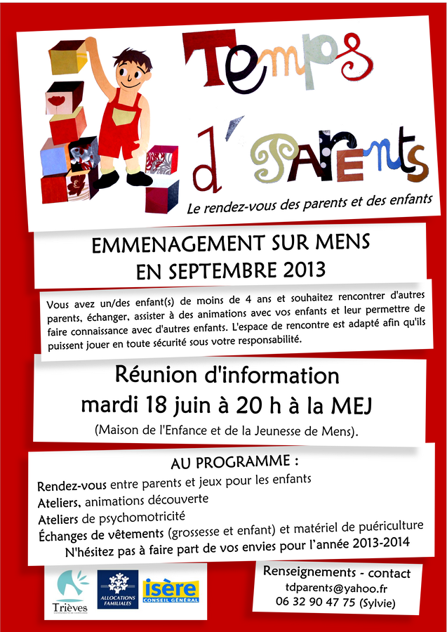 Temps d'parents dans Trieves evenements emmenagement-copier