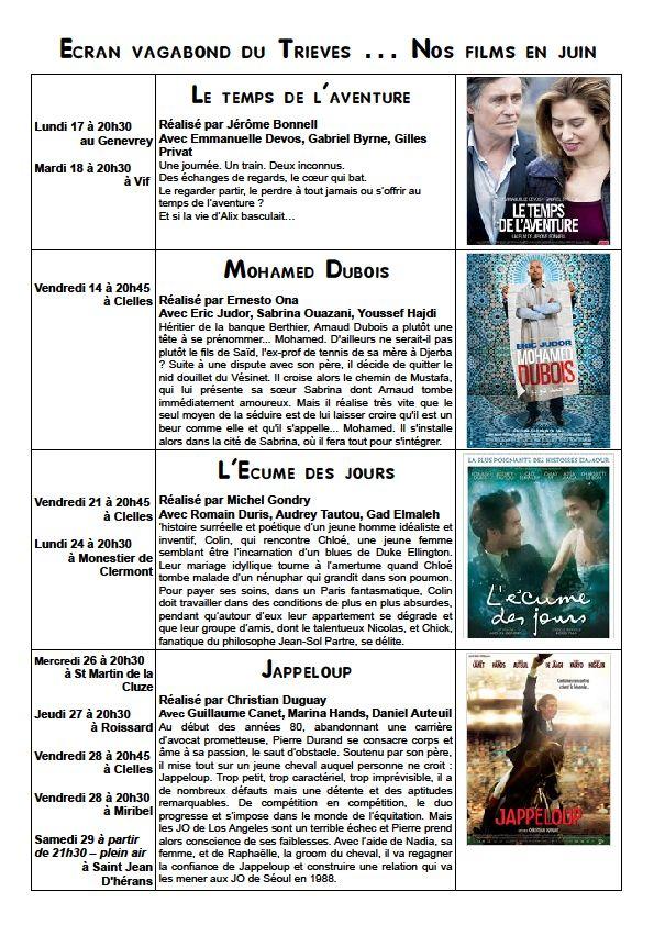 L'écran en juin dans Trièves culture & cinéma juin