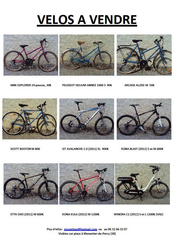 Vélos à vendre dans Trièves à vélo velos