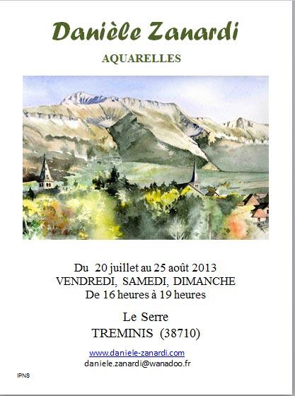 Aquarelles dans Trièves culture & cinéma affiche