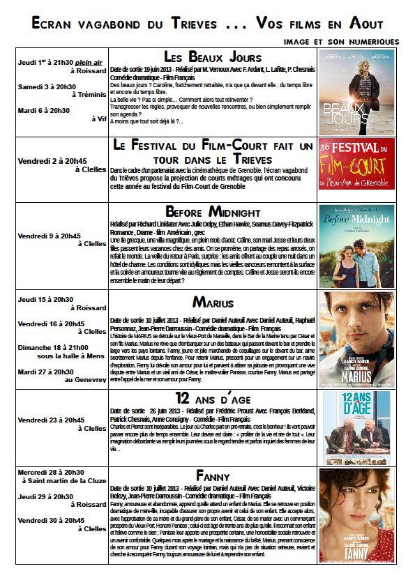 Demandez le programme... dans Trièves culture & cinéma aout