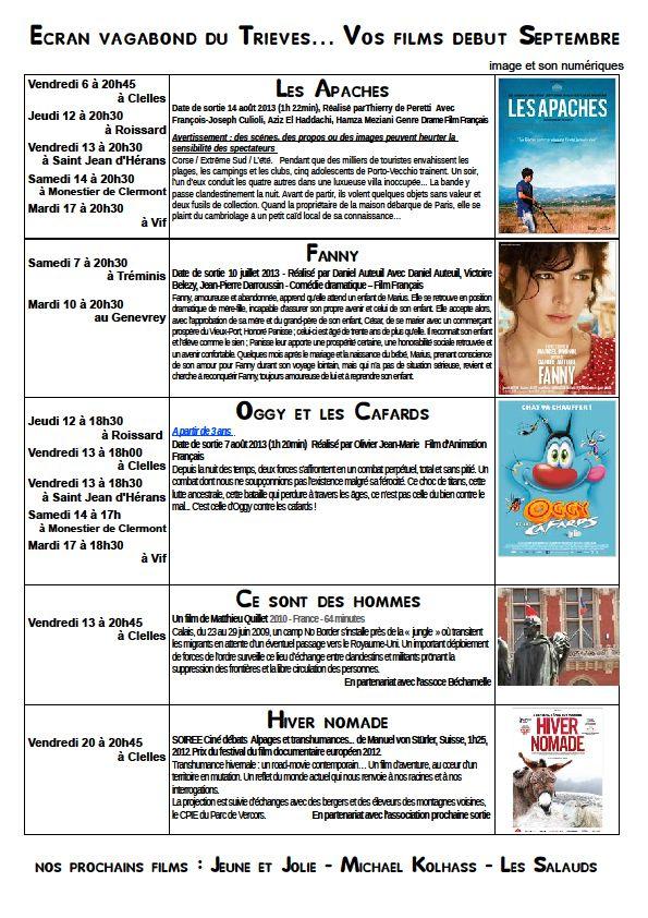 L'écran en septembre dans Trièves culture & cinéma septembre