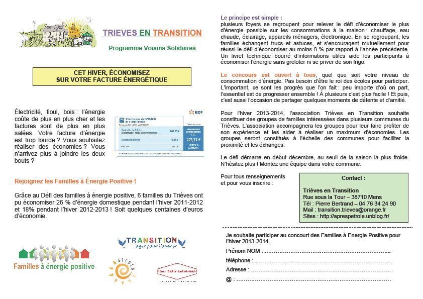 Participez au Défi des familles à énergie positive dans Ecologie bert
