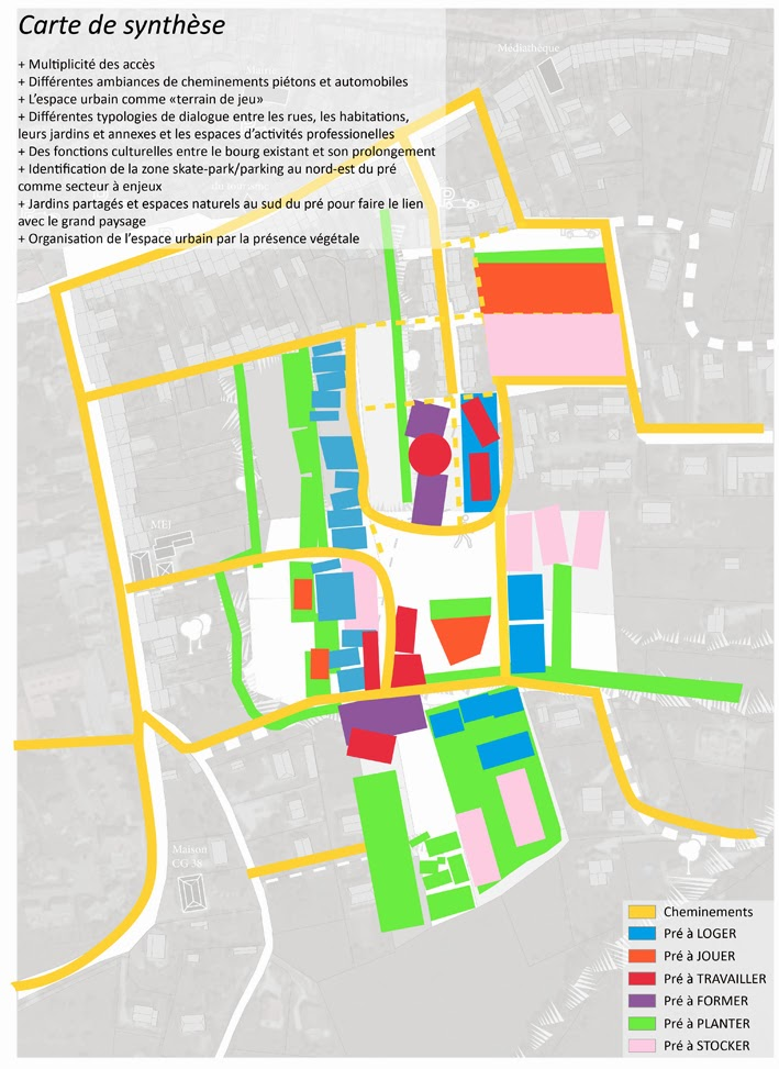 Premier atelier participatif « Pré à Habiter » : la synthèse dans Lotissement Pre Colombon carte_ok