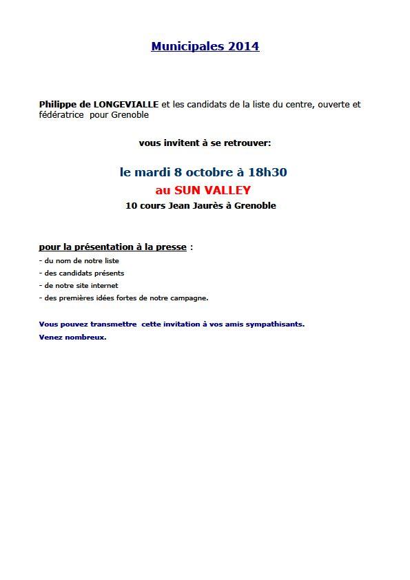 Municipales 2014 à Grenoble dans 2014 Municipales longevialle