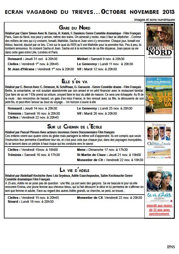 Novembre dans Trièves culture & cinéma novembre
